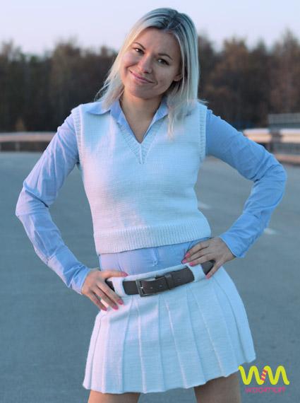 Короткая белая юбка доставка